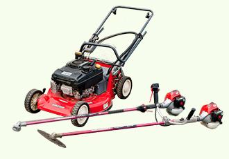 肩掛け式芝刈り機の写真
